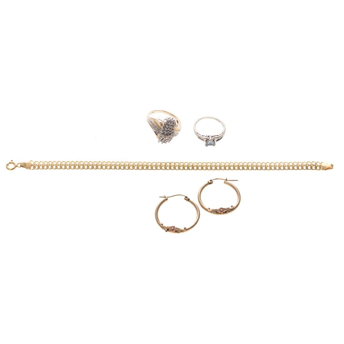 A Selection of Lady's Jewelry in 14K & 10K Gold