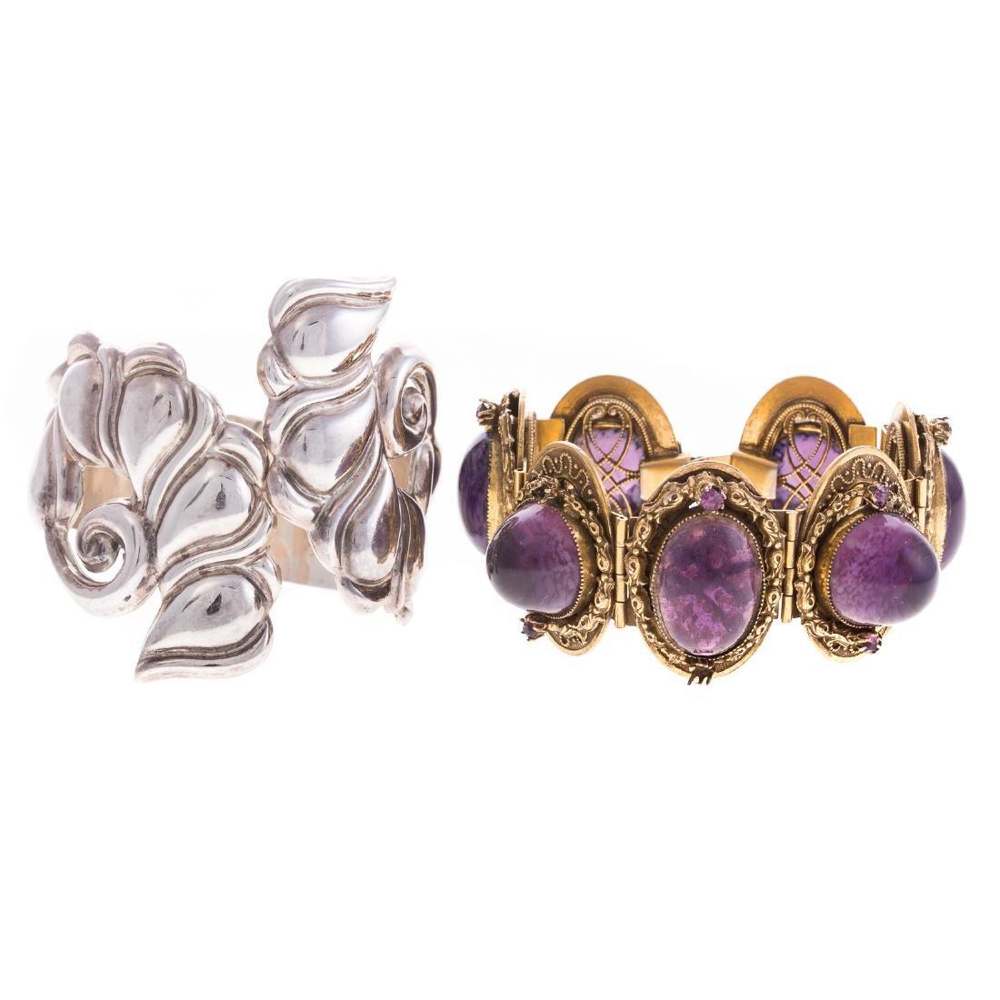 A Pair of Wide Lady's Bracelets