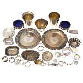 Collection American  Continental silver tableware