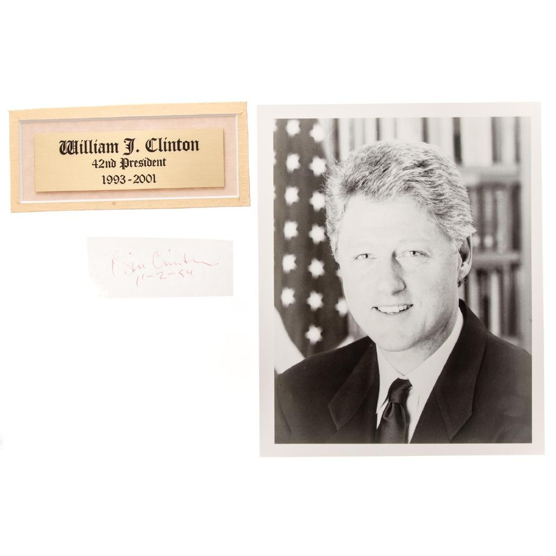 William Jefferson Clinton signature