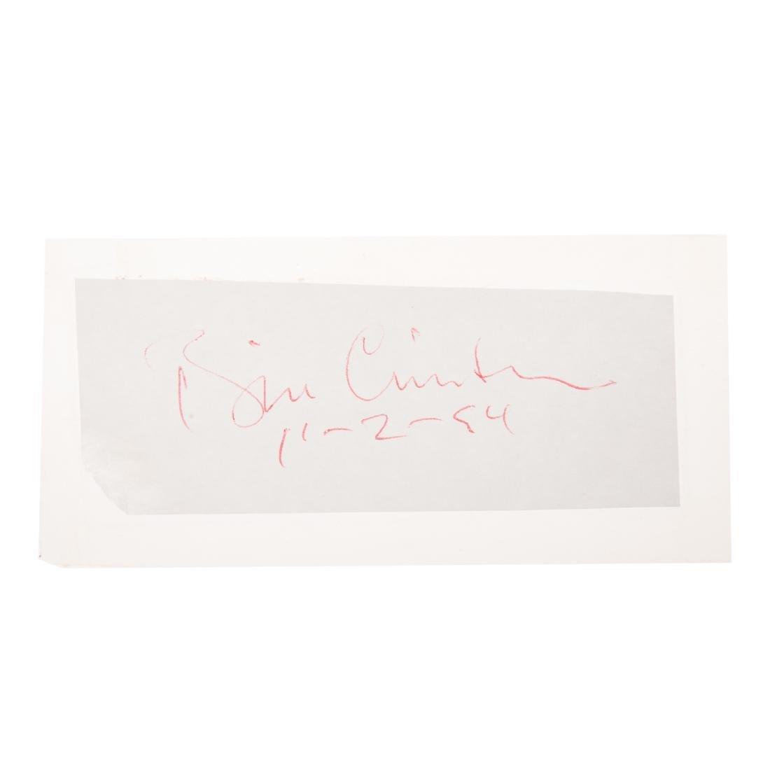 William Jefferson Clinton signature - 2