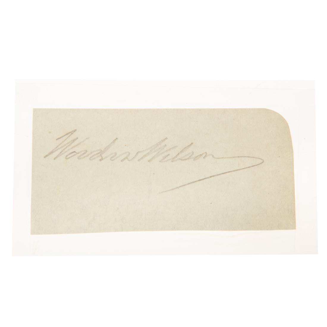 Thomas Woodrow Wilson signature - 2