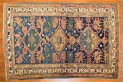 Antique Kuba rug, approx. 3.7 x 5.4