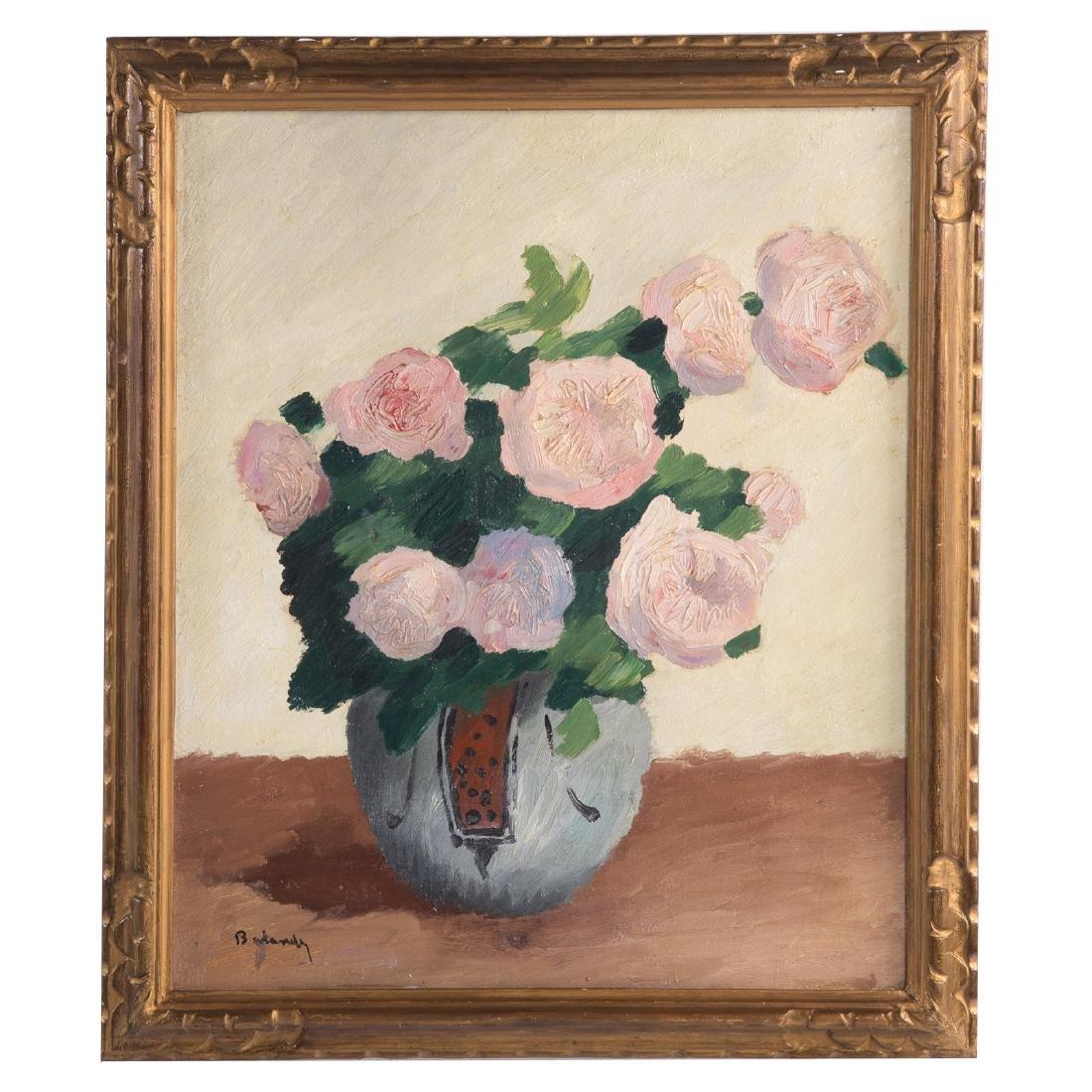Gaston Balande. Peonies, oil on canvas