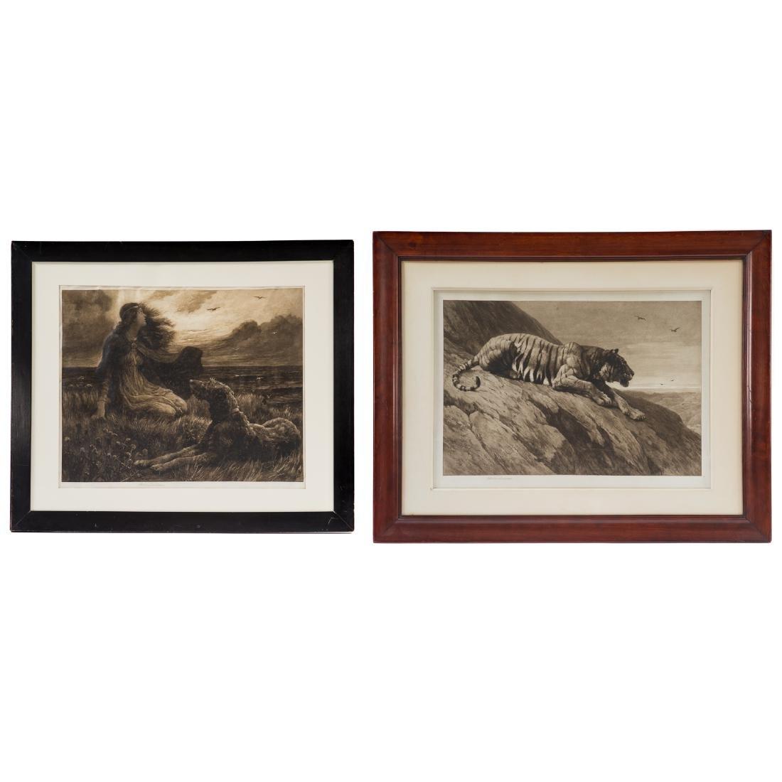 Herbert Thomas Dicksee. Two framed etchings