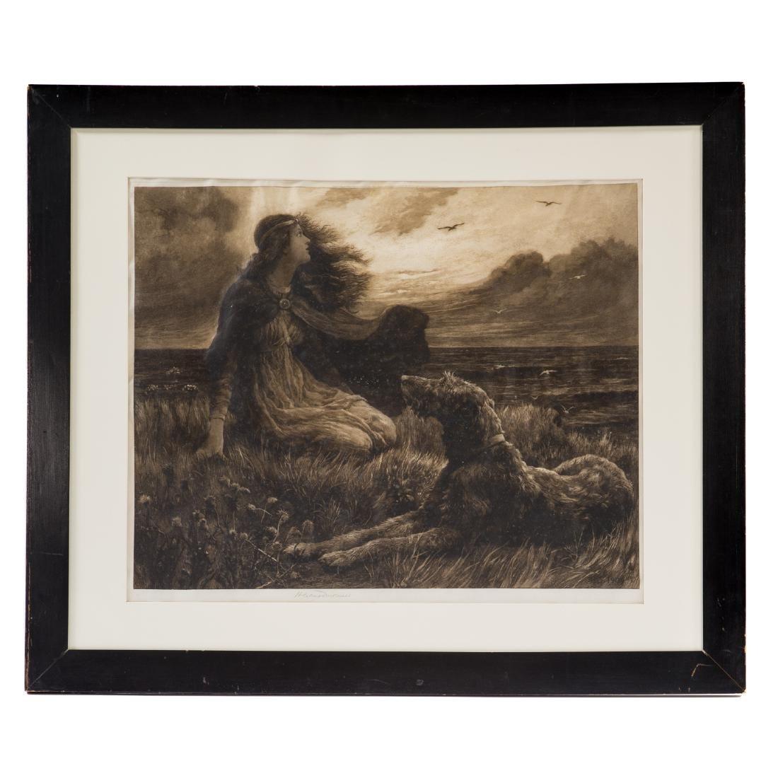 Herbert Thomas Dicksee. Two framed etchings - 2