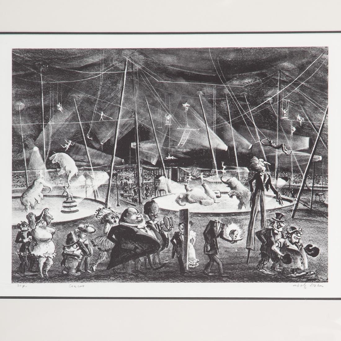 Three Circus themed prints, each framed - 2