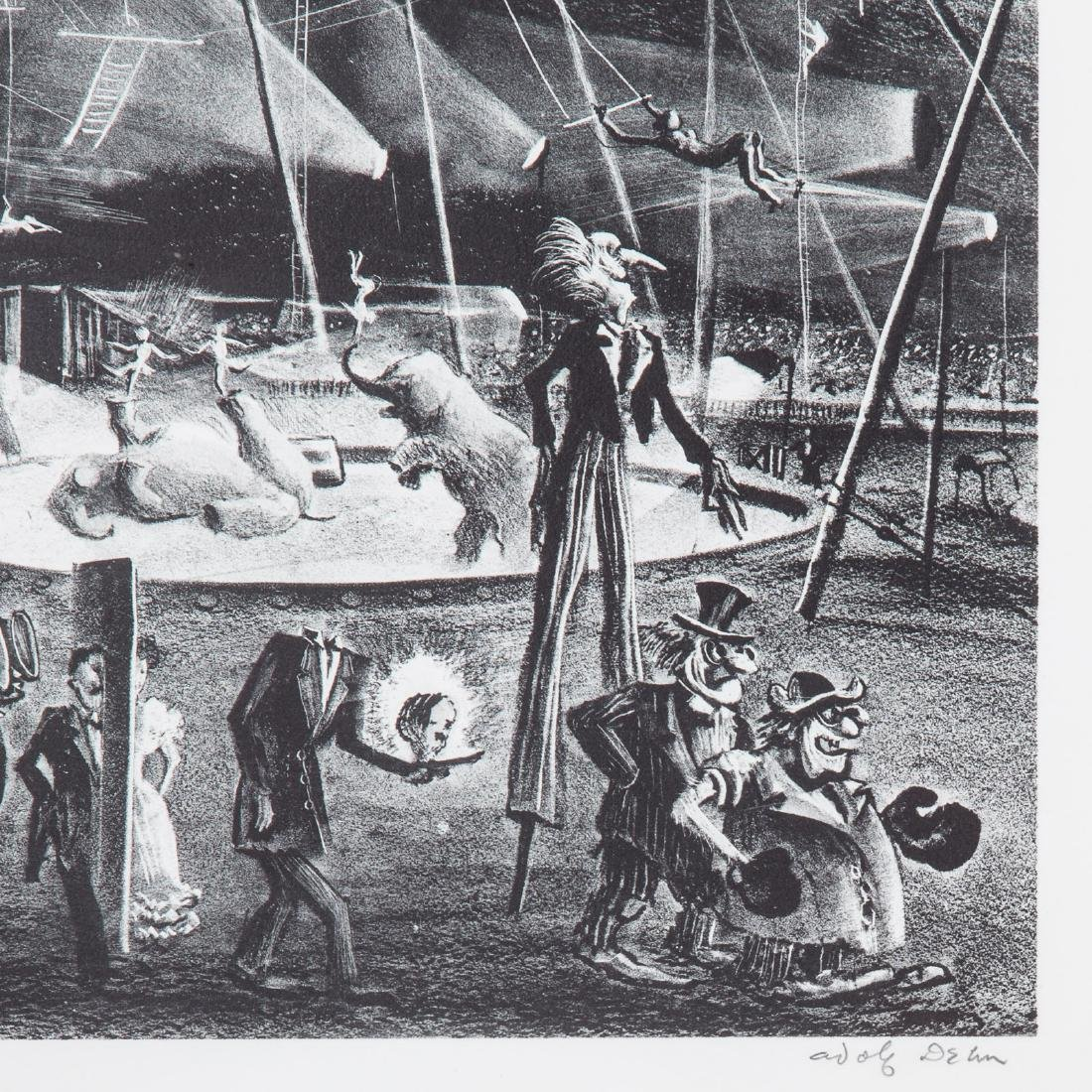 Three Circus themed prints, each framed - 3