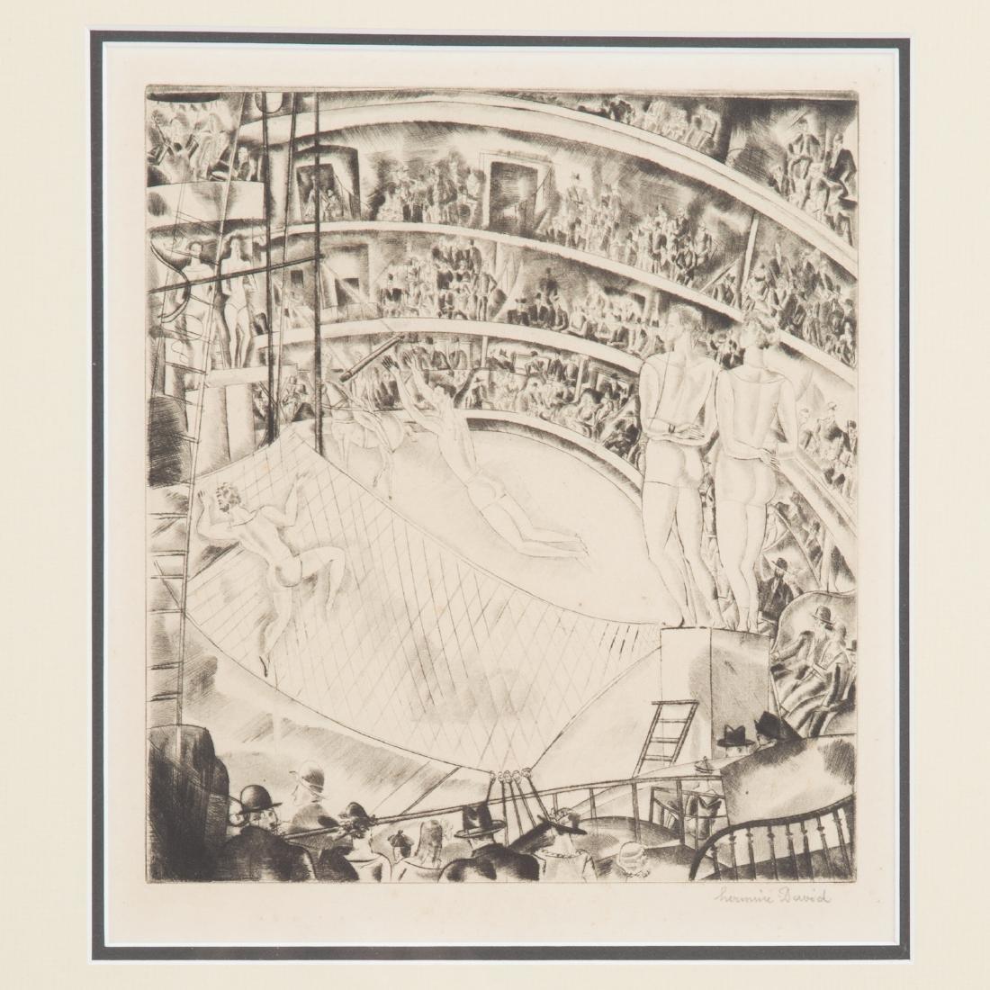 Three Circus themed prints, each framed - 4