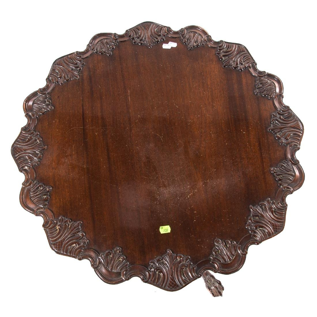 Chippendale style carved mahogany tilt-top table - 2