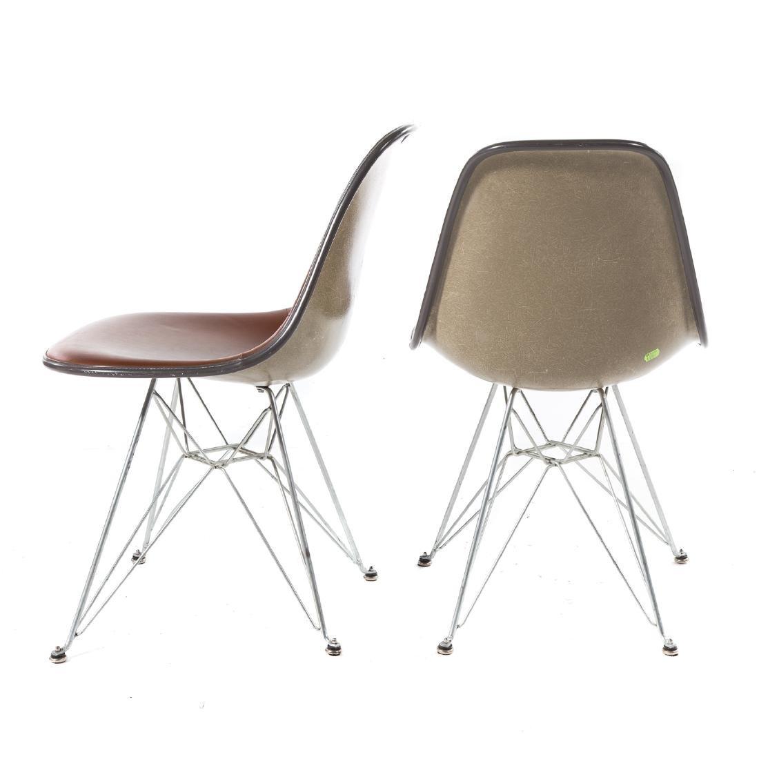 Pair Eames Herman Miller style Eiffel base chairs - 3