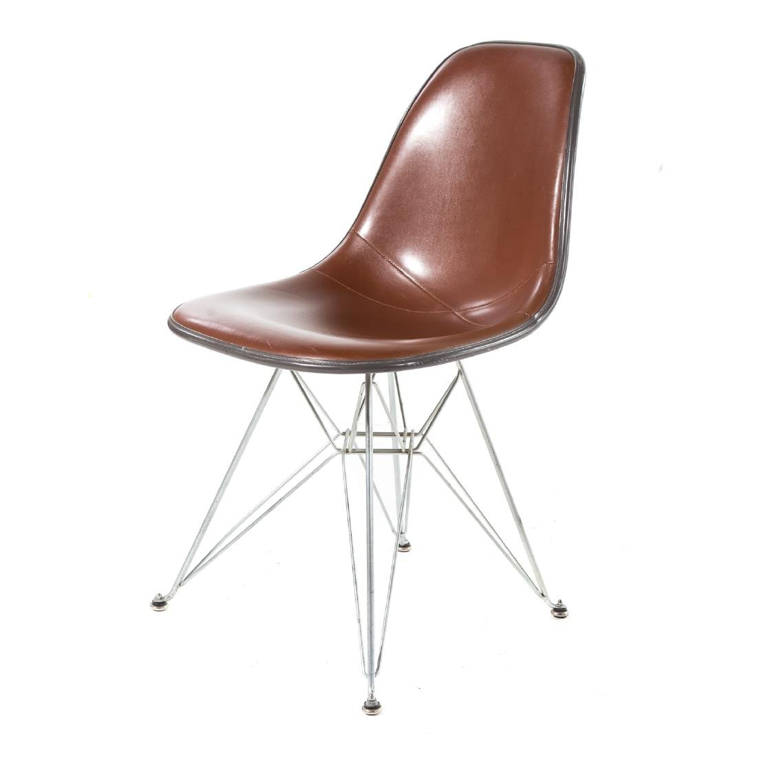 Pair Eames Herman Miller style Eiffel base chairs - 4