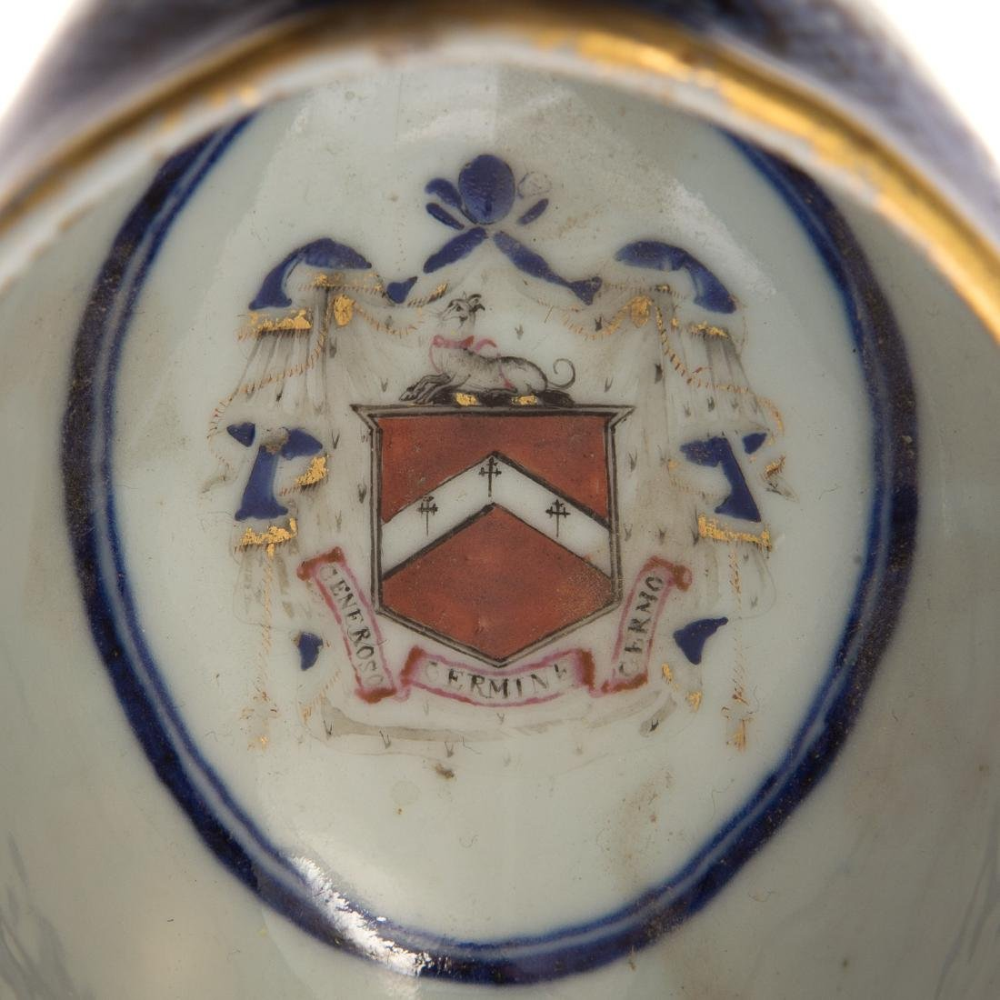 Chinese Export armorial sauce boat & underplate - 6