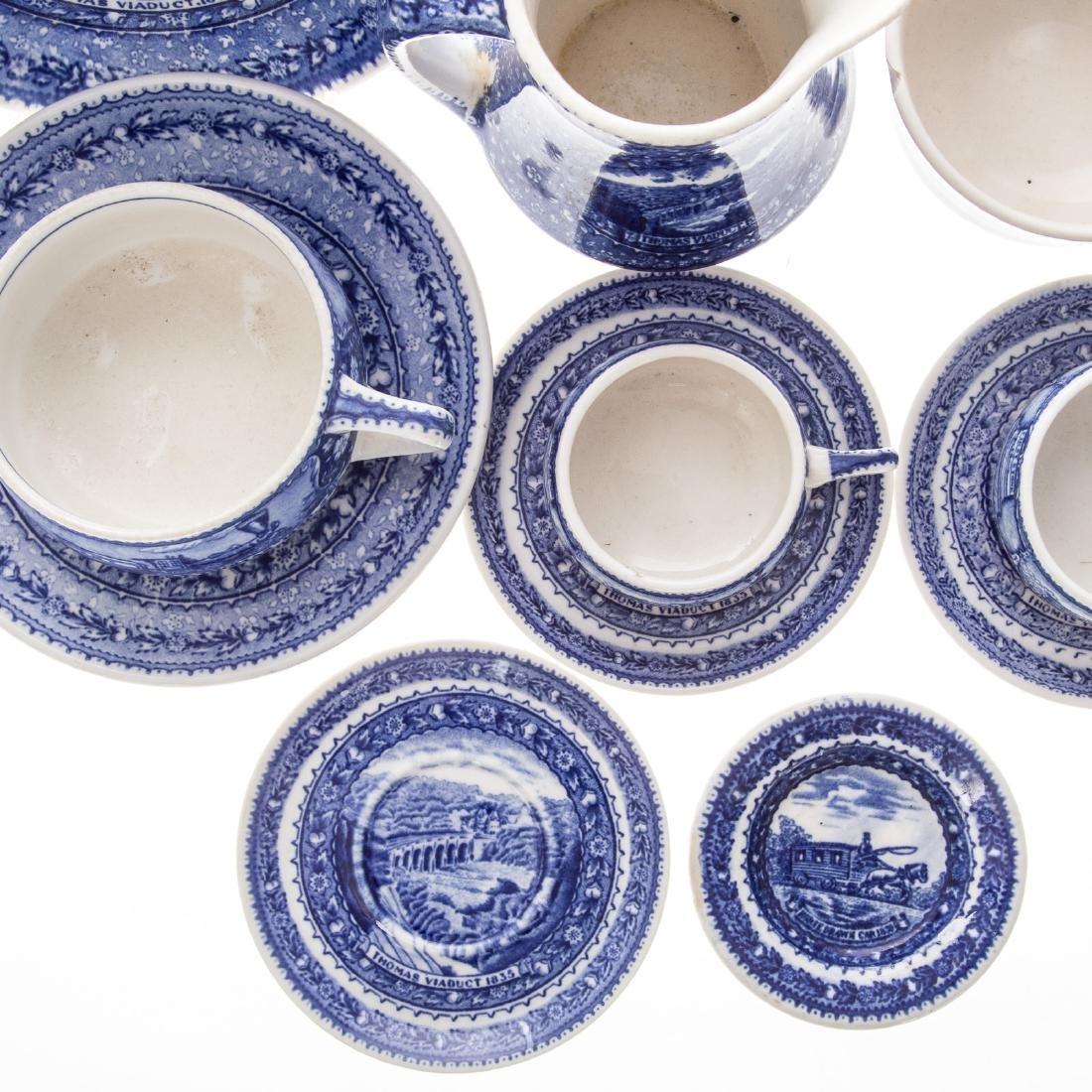 11 Lamberton B & O china cups/saucers - 2