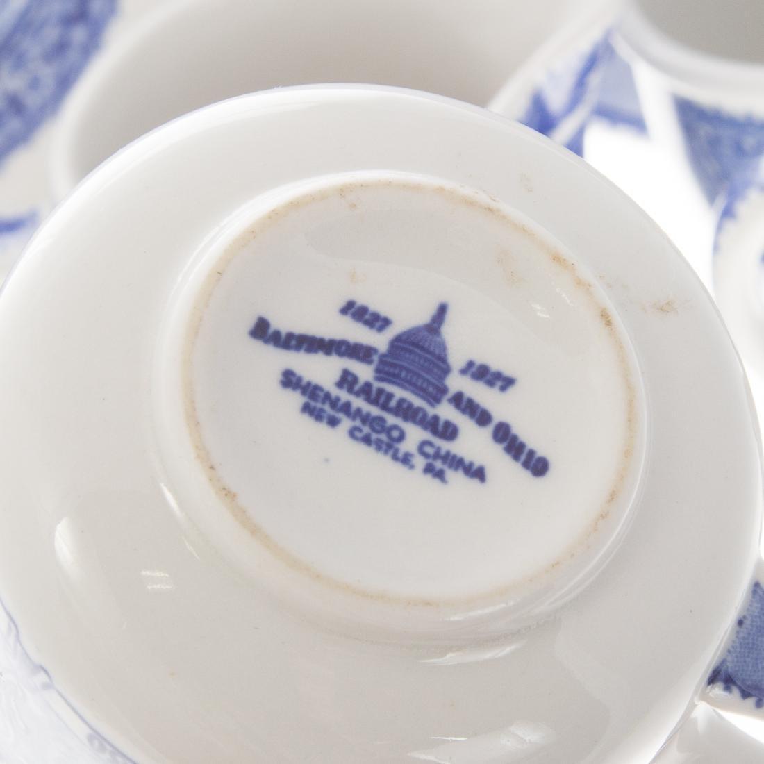 13 Shenango B & O china articles - 2