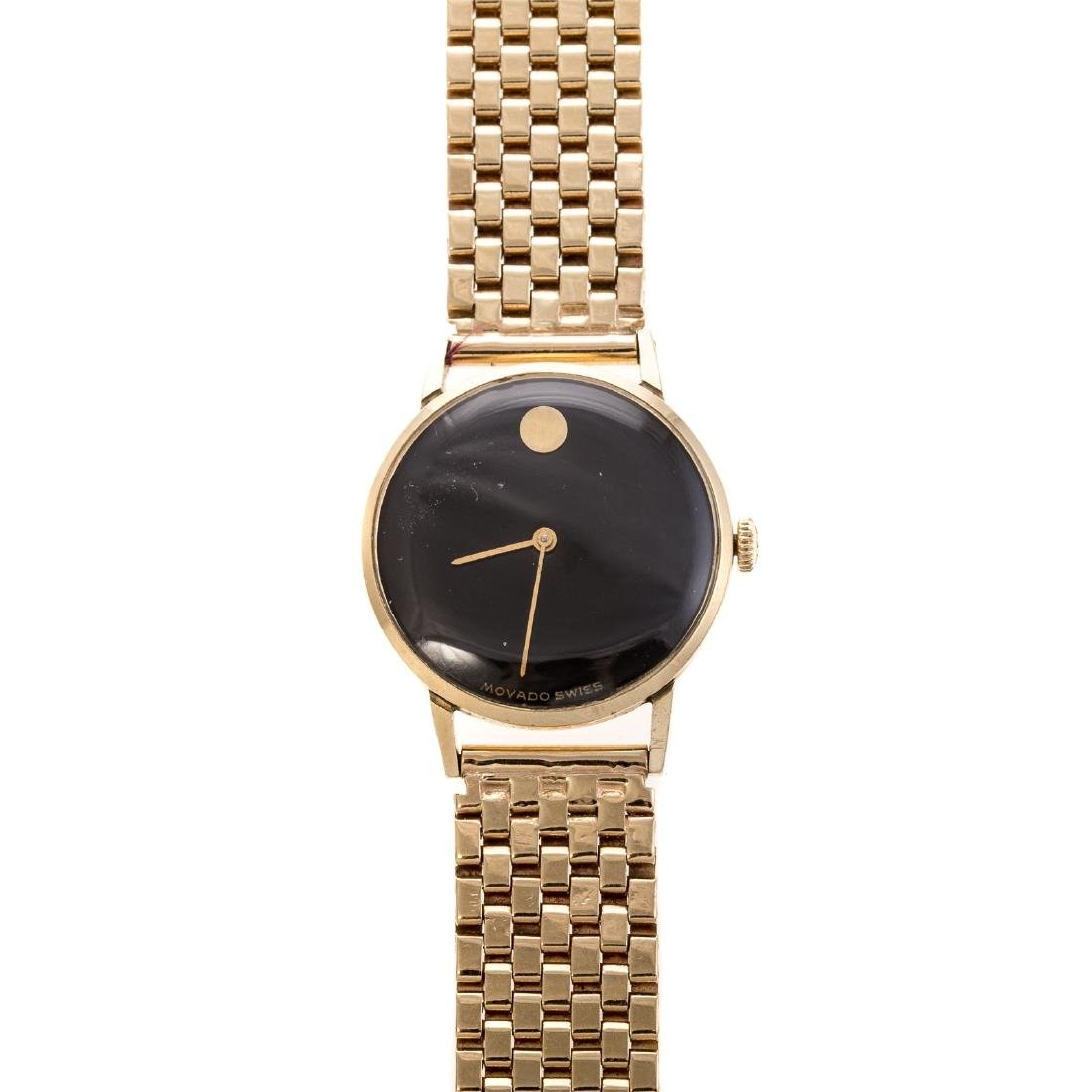 A Lady's Movado Watch in 14K Gold