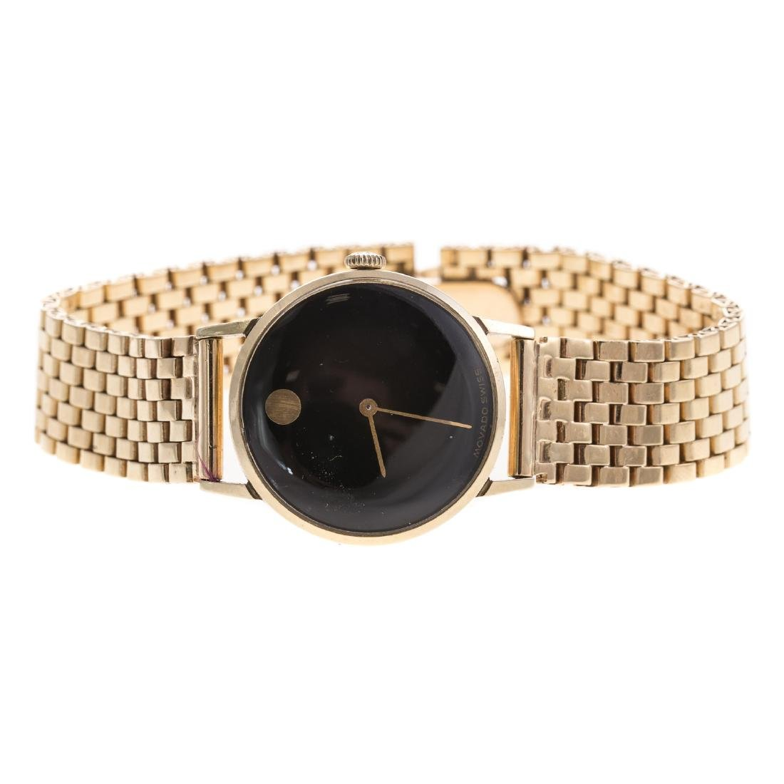 A Lady's Movado Watch in 14K Gold - 2