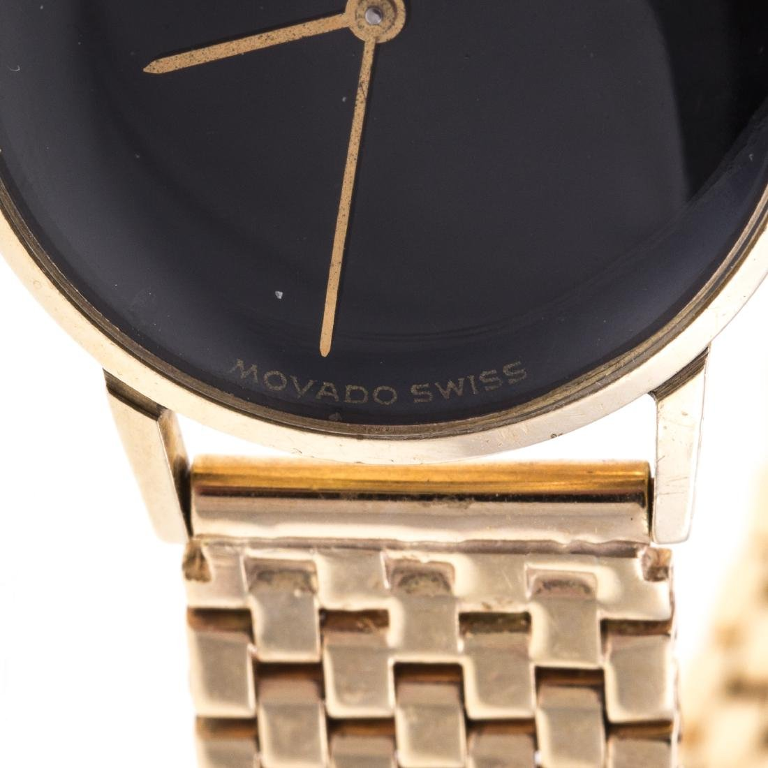 A Lady's Movado Watch in 14K Gold - 3