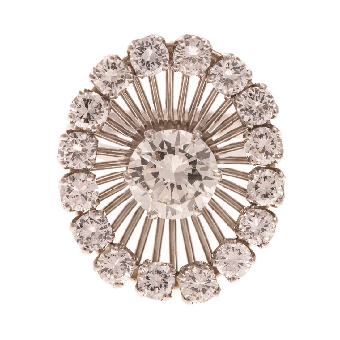 A Lady's Platinum Diamond Cocktail Ring