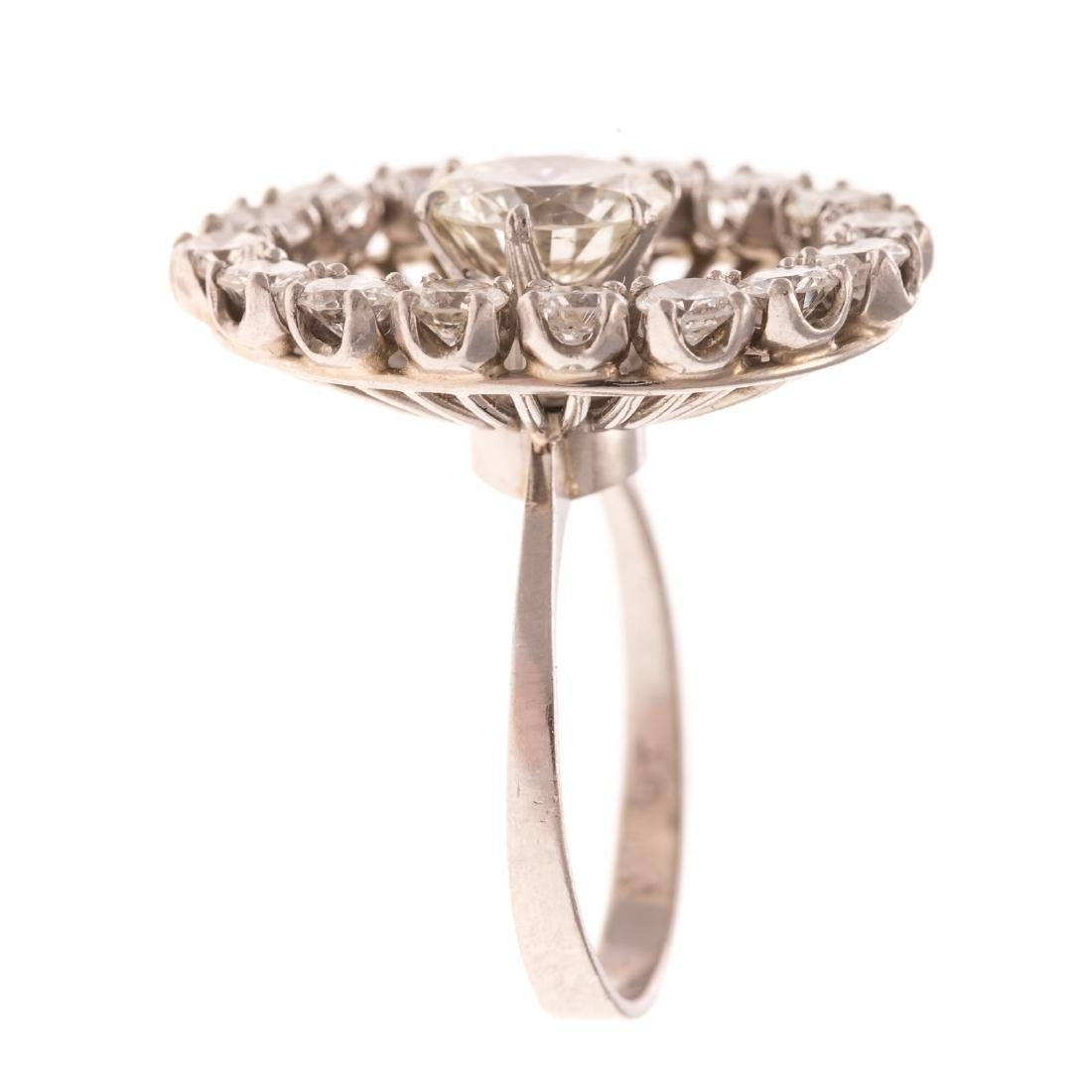 A Lady's Platinum Diamond Cocktail Ring - 2