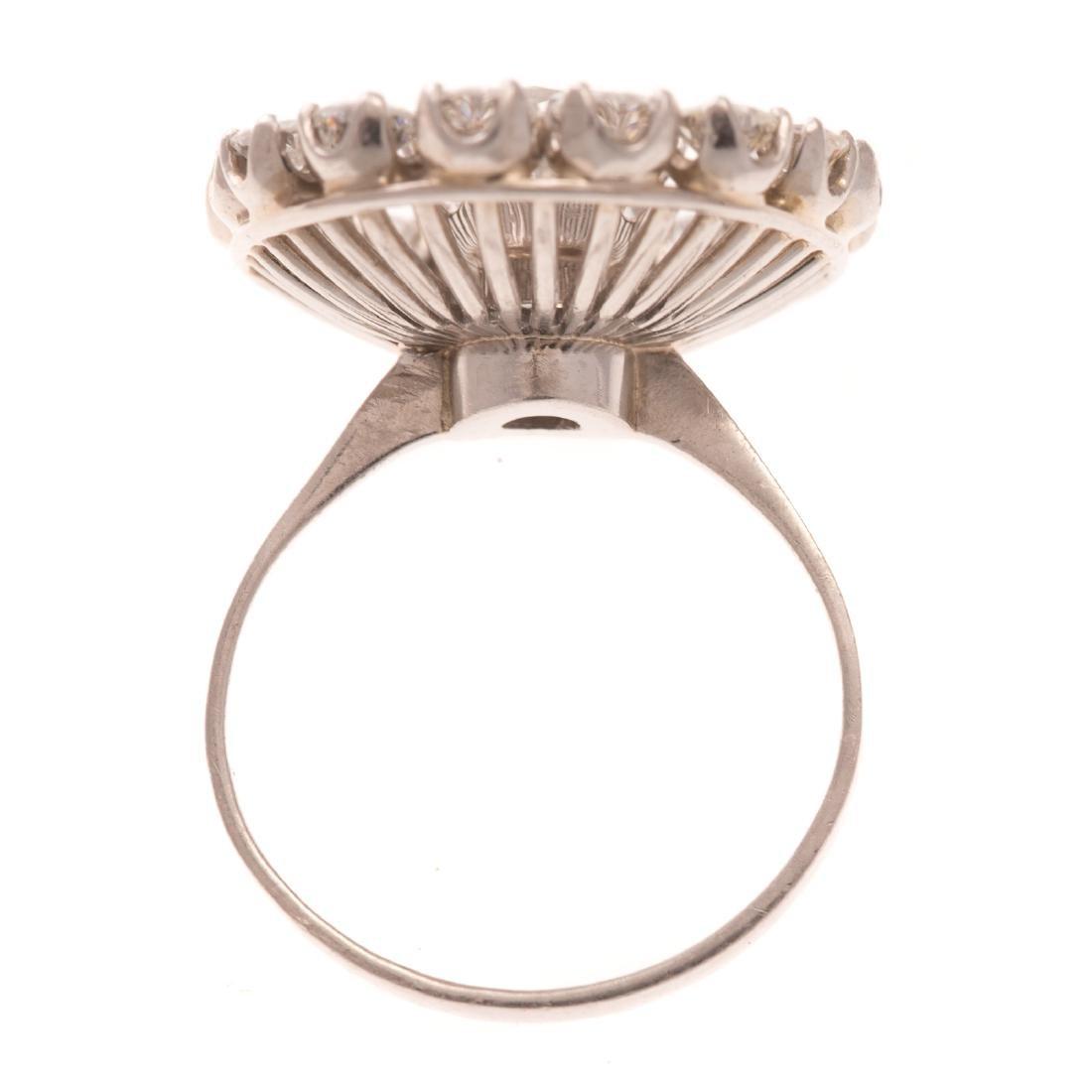 A Lady's Platinum Diamond Cocktail Ring - 3