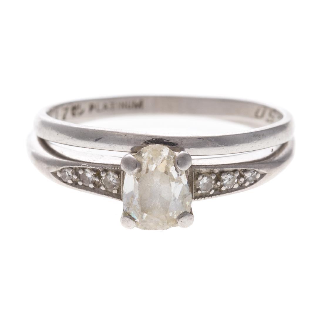 A Vintage Diamond Wedding Set in Platinum