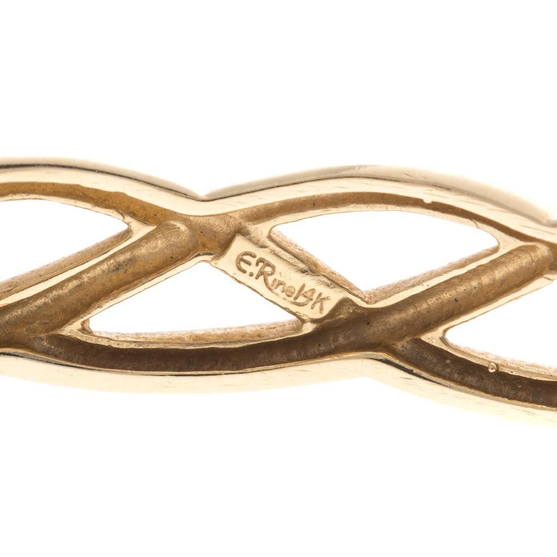 A Lady's 14K Open Weave Bangle Bracelet - 3