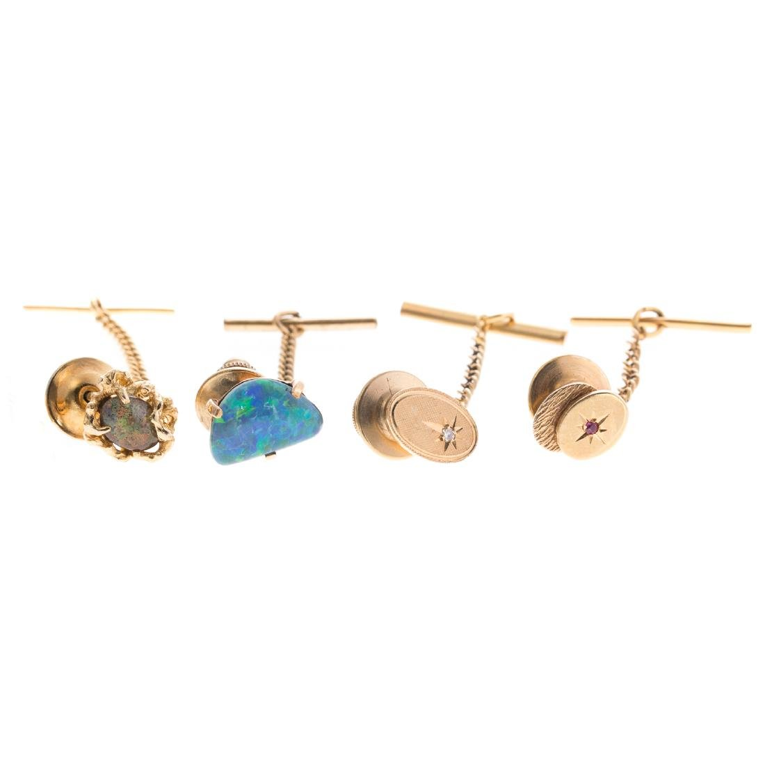 A Collection of Gentlemen's Tie Tacks in 14K