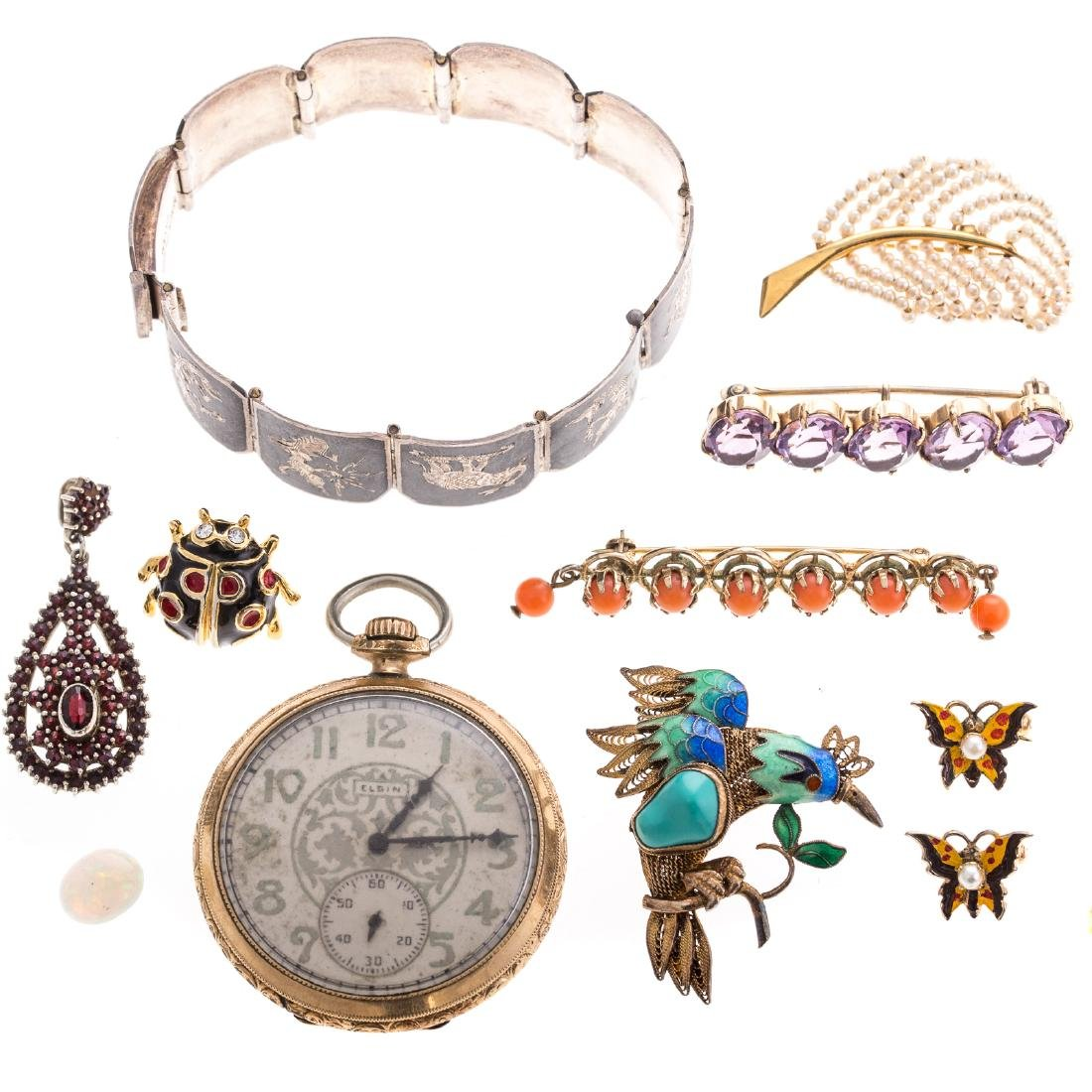 A Collection of Lady's Jewelry Featuring Amber - 3