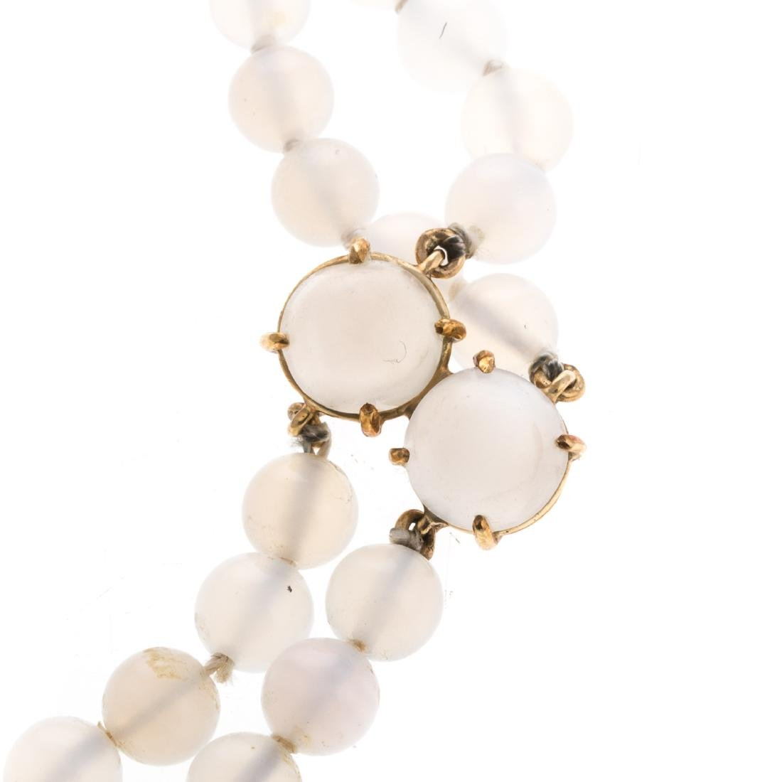 A Convertible 18K Moonstone Pin/Necklace - 3