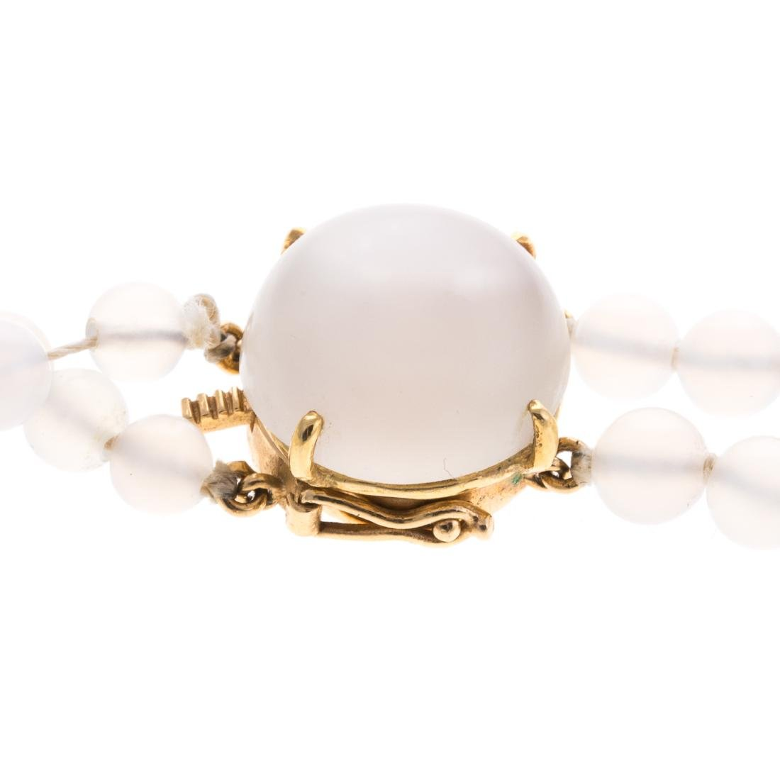 A Convertible 18K Moonstone Pin/Necklace - 4