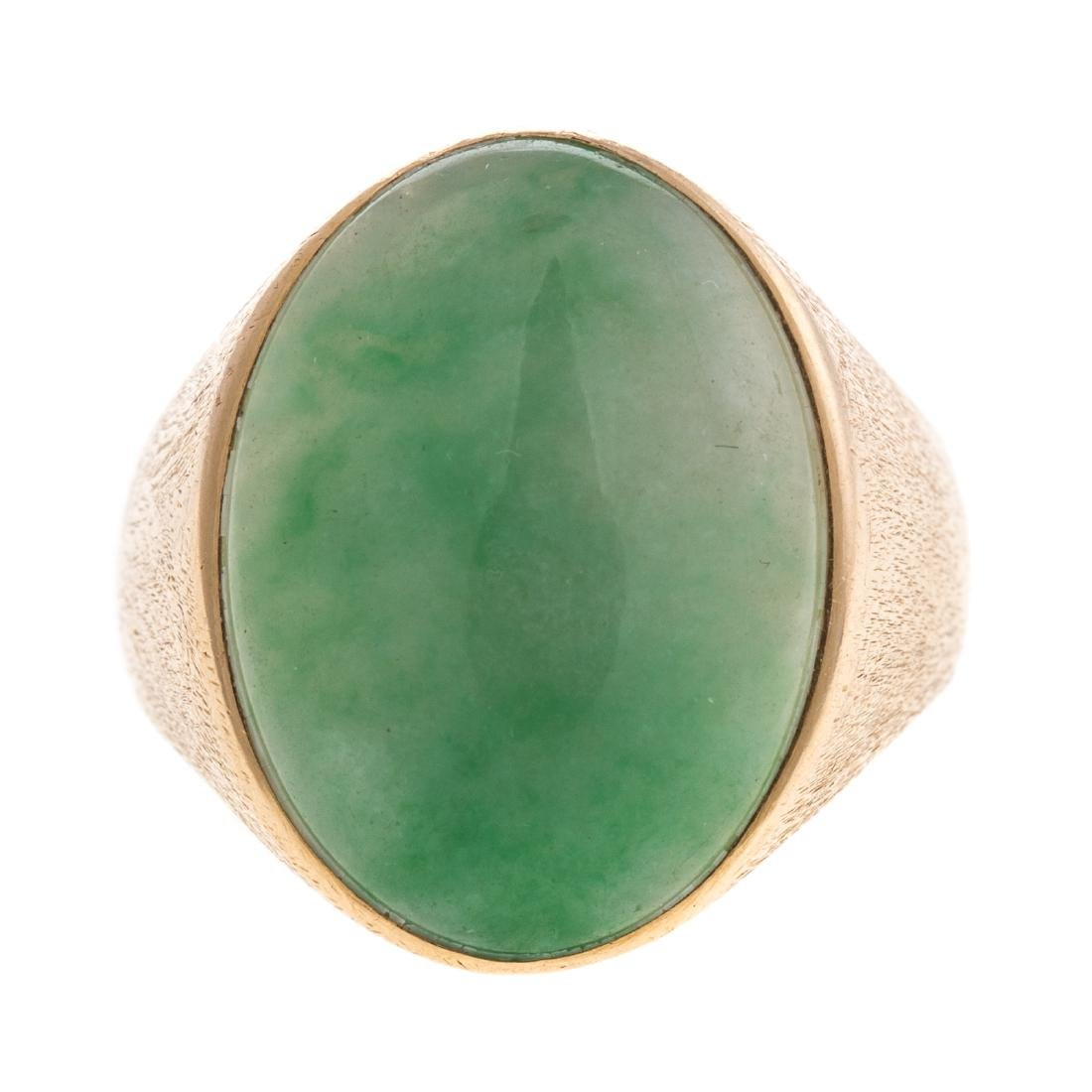 A Lady's Jadeite Ring in 14K Gold