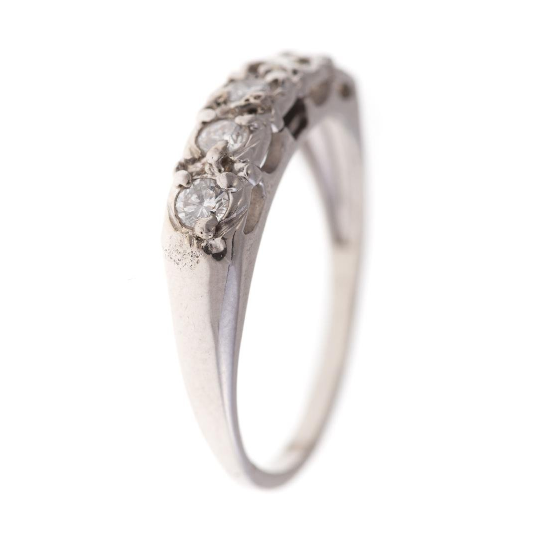A Lady's Diamond Engagement Set in 14K White Gold - 3