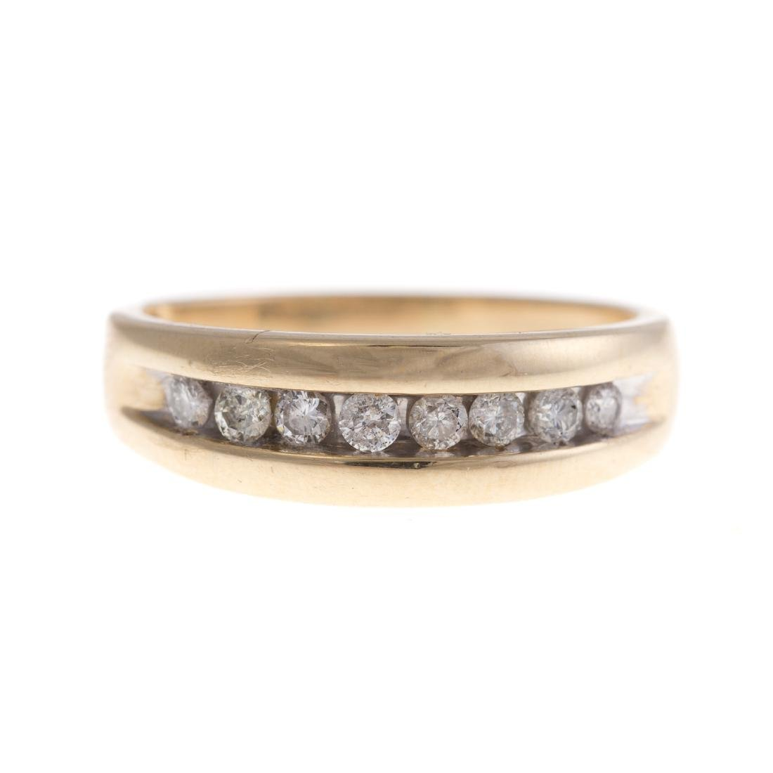 A Gentleman's Diamond Ring in 14K Gold