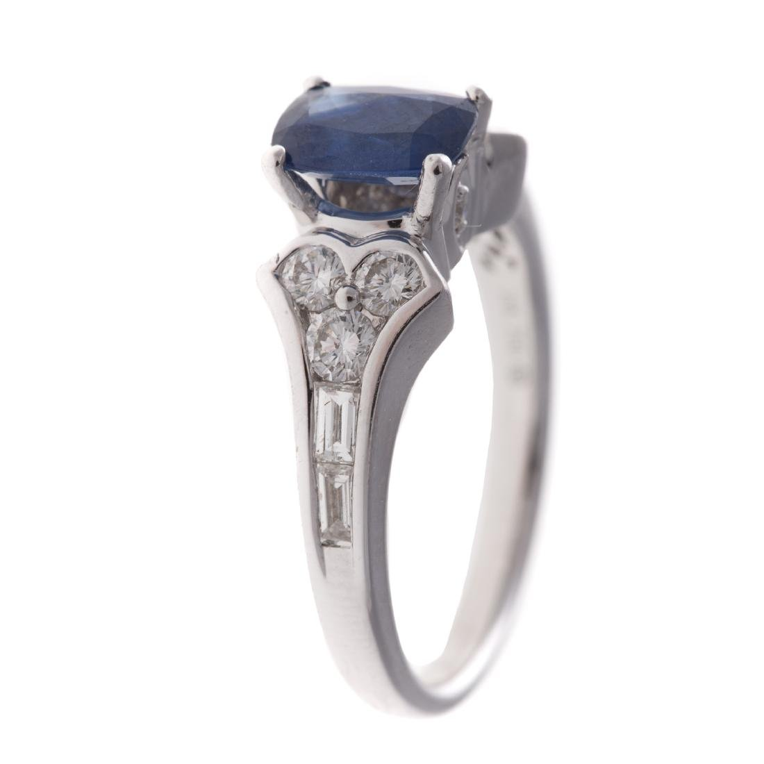 A Lady's 18K Sapphire & Diamond Ring - 2