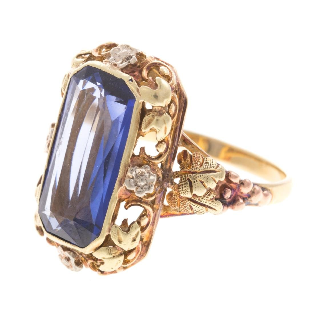 A Pair of Lady's Colored Gemstone Rings in Gold - 6
