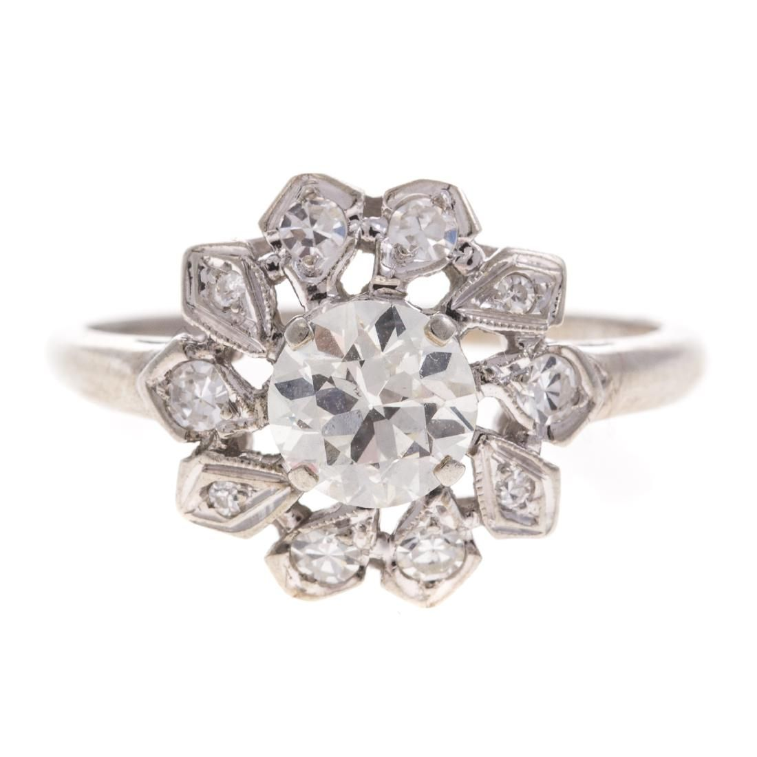 A Lady's 18K Diamond Cocktail Ring
