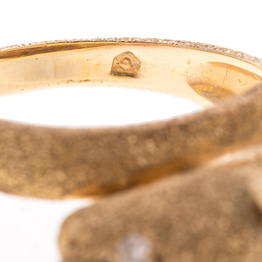 A Lady's 14K Panther Ring with Diamond Eyes - 5