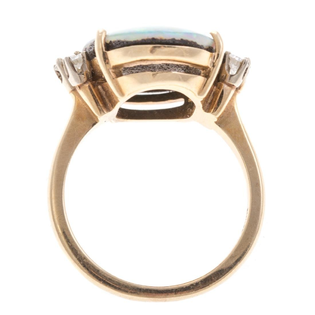 A Lady's 14K Opal and Diamond Ring - 5