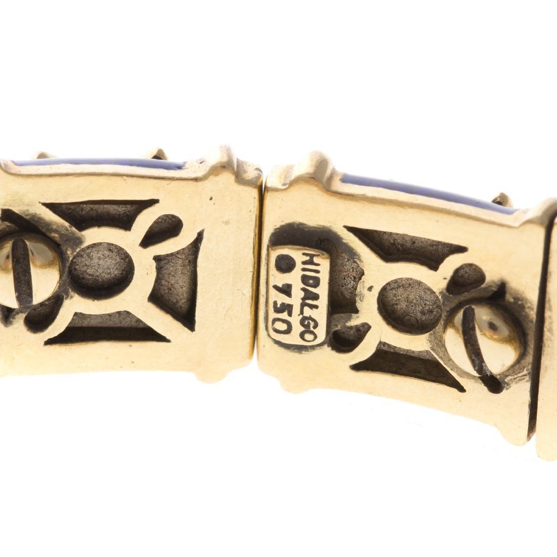 """An 18K Blue Enamel """"X"""" Bracelet by Hidalgo - 3"""