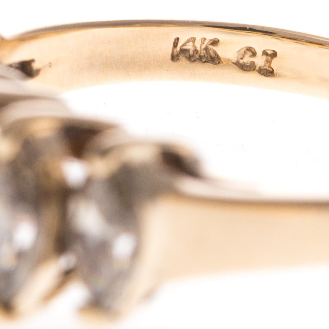 A Pair of Gold Diamond Rings - 4