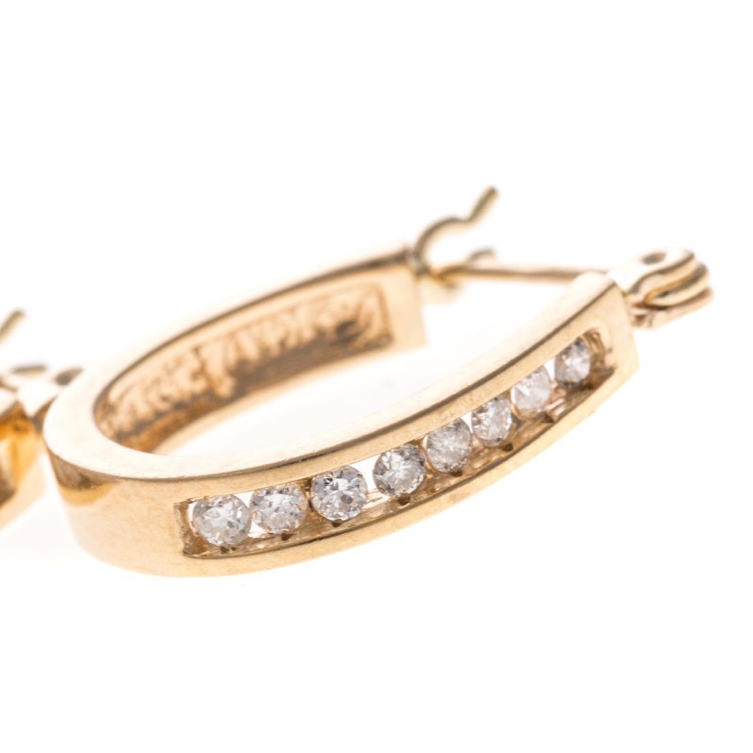 Two Pairs of Lady's 14K Hoop Earrings - 3