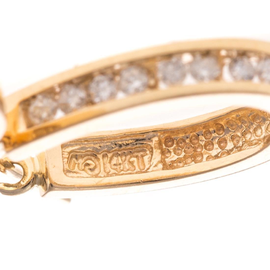 Two Pairs of Lady's 14K Hoop Earrings - 4