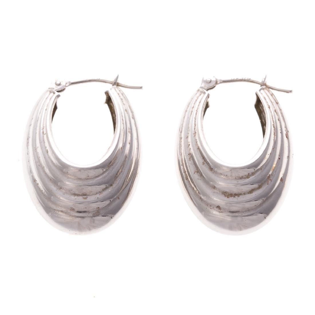 Two Pairs of Lady's 14K Hoop Earrings - 5