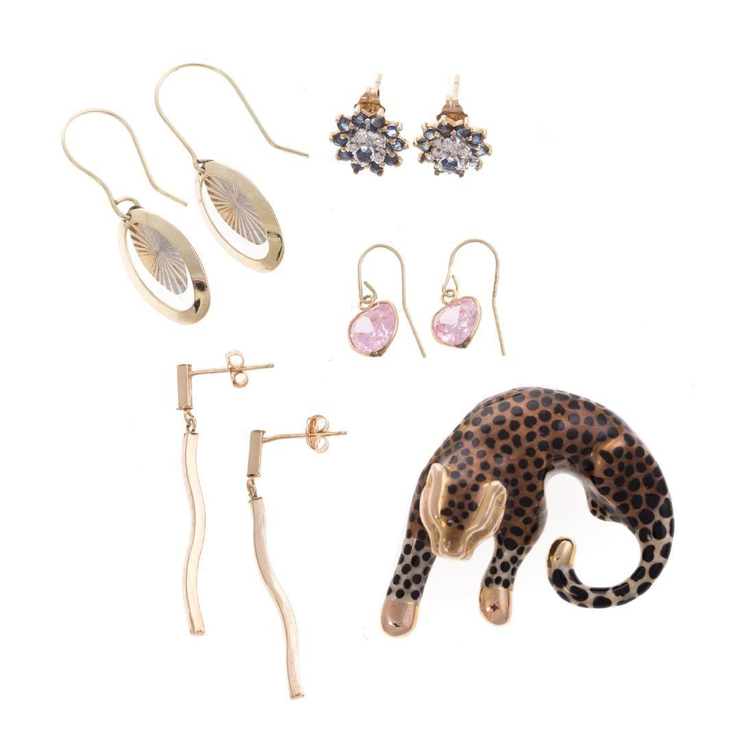 A Collection of Earrings & Enamel Slide