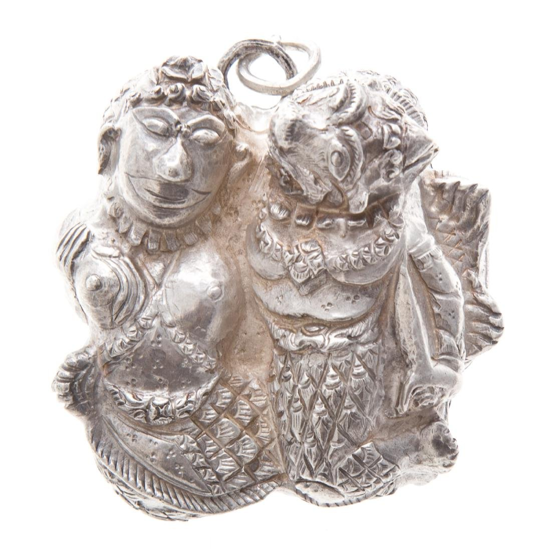 "A Chinese ""Gods of Good Fortune"" Box in Sterling"