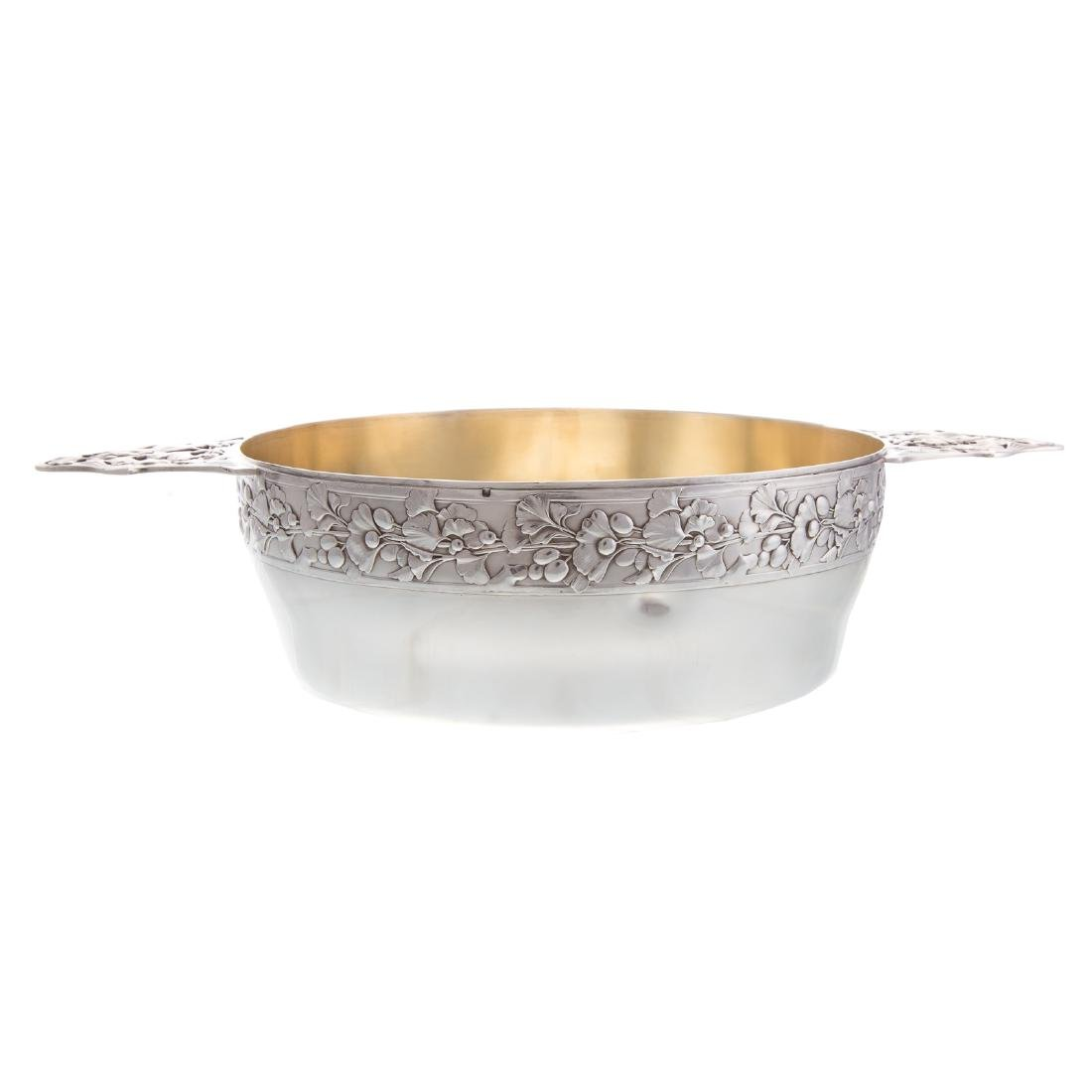 French silver serving bowl