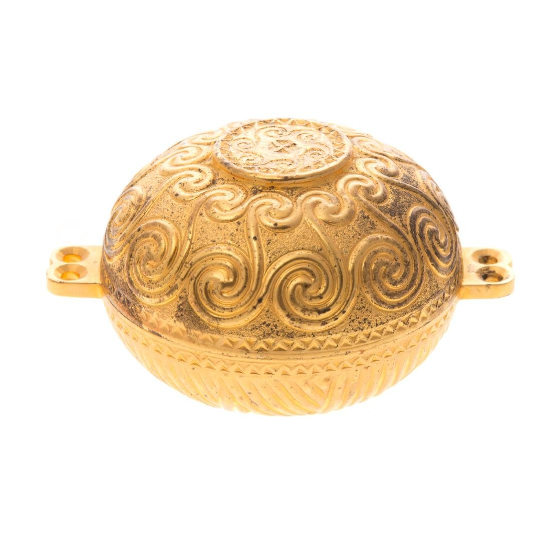Ilias Lalaounis gilt sterling trinket box