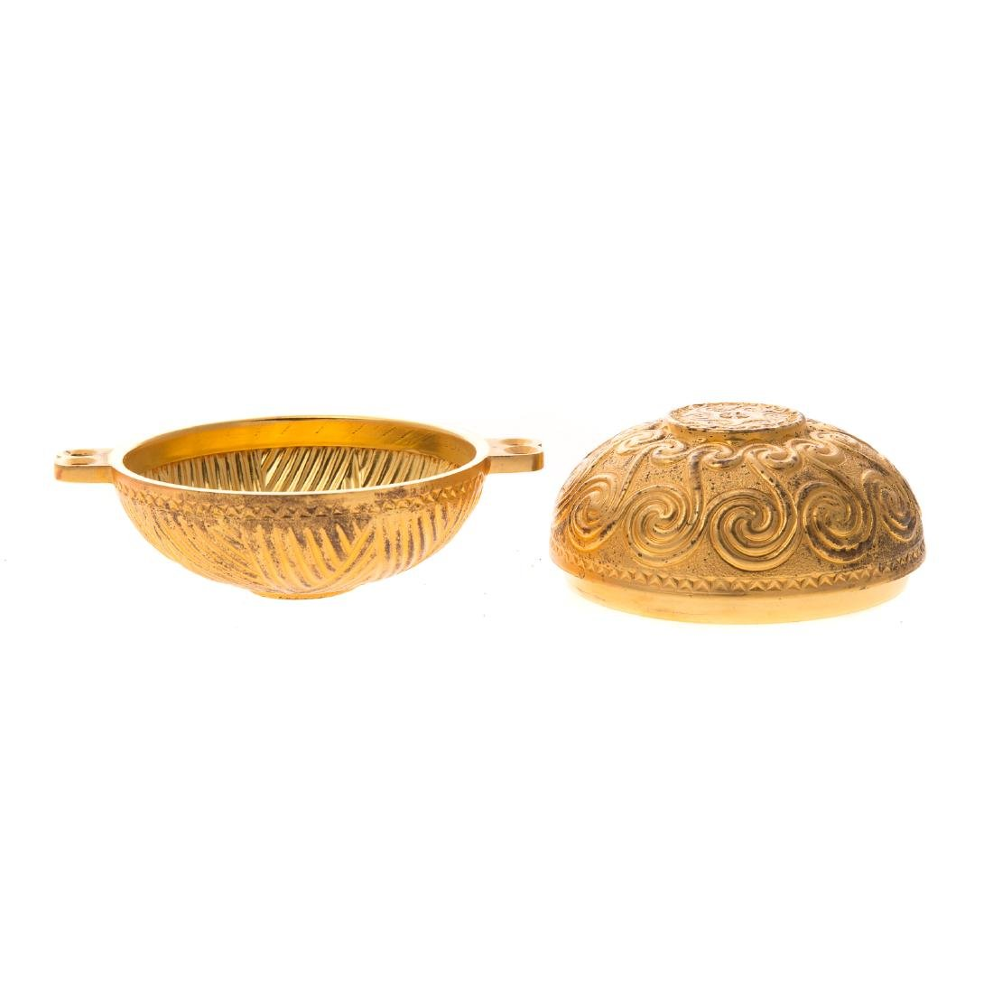 Ilias Lalaounis gilt sterling trinket box - 3