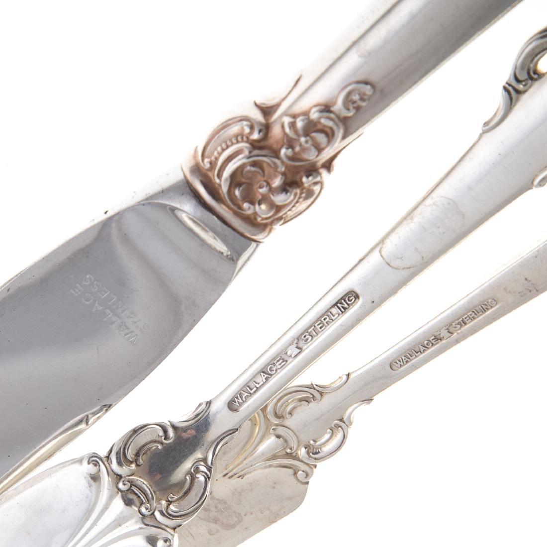 "Wallace ""Grande Baroque"" 82-pc sterling flatware - 3"